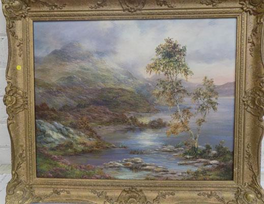 "Landscape original oil painting by Prudence Turner 24"" x 21"""