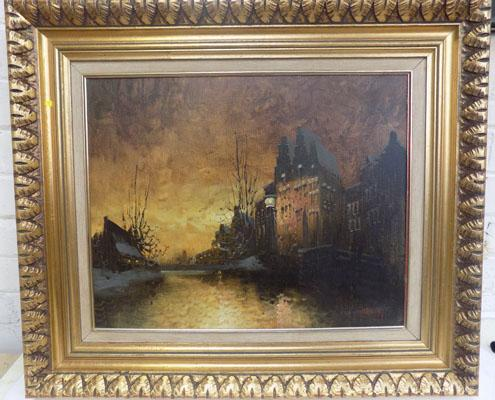"Oil painting by W.F Smith 1970's 28.5"" x 24"""