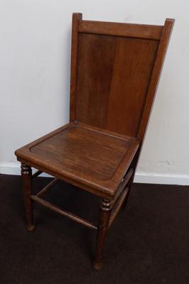 1910 Oak trouser press chair-VeeCeeBee