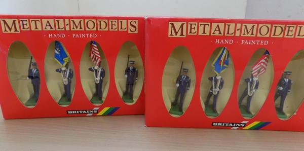 2 sets of William Britains figures #7307 USAF colour party, mint in box