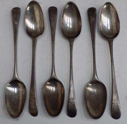 Set of 6 Georgian silver spoons