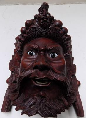 Antique 'Dark Wood' mask - 8""