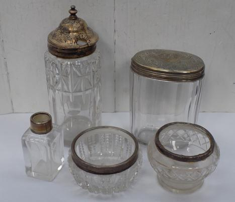Selection of silver topped items