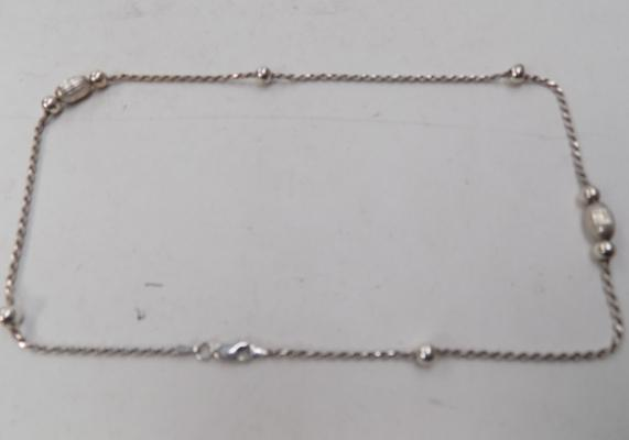 Elegant 925 silver twist rope necklace