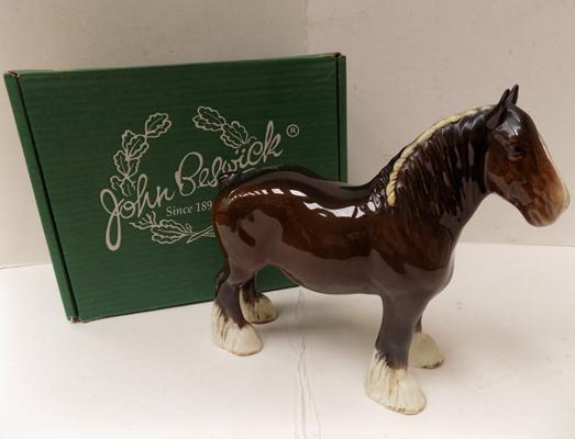 Beswick shire mare with box
