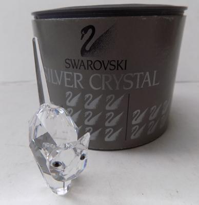 Swarovski arched back cat