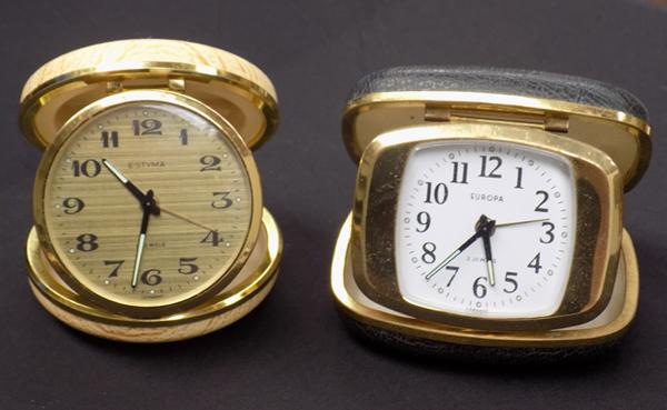 2 bedside clocks - Europa and Estyma