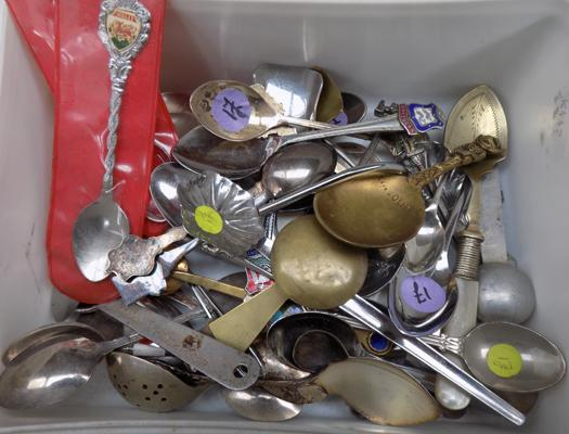 Selection of vintage EPNS and silver plated spoons