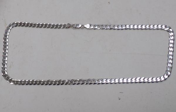 925 stamped silver cart link neck chain
