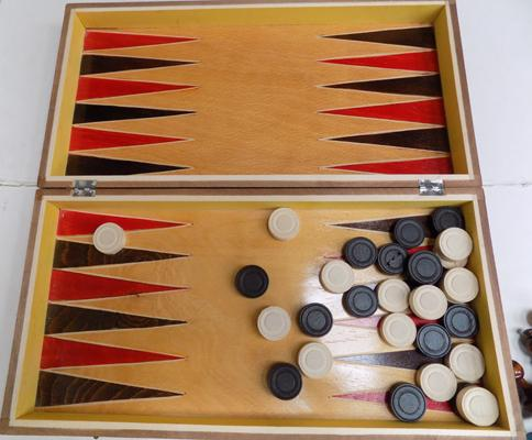 Chess/backgammon set