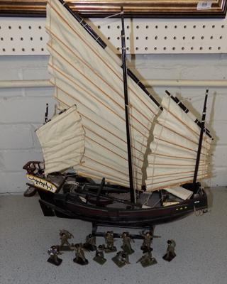 Model ship & selection of crescent soldiers
