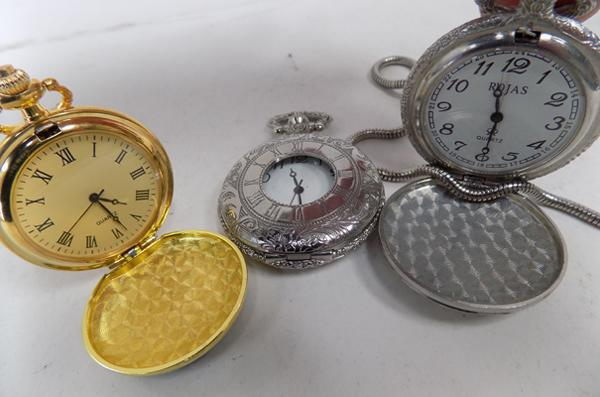 3 modern pocket watches