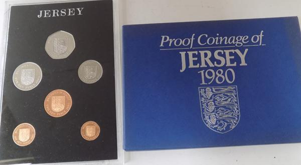 1980 Jersey proof coin set
