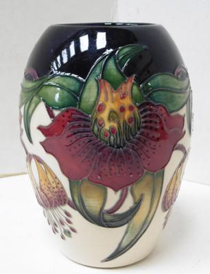 Moorcroft Anna Lily vase, designed by Nicola Slaney, 13cm. No damage