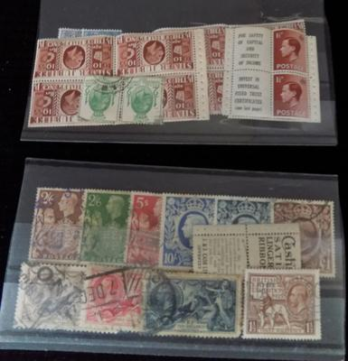 2 stock cards of George V stamps etc.