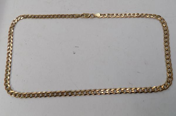 22ct gold on 925 silver neck chain