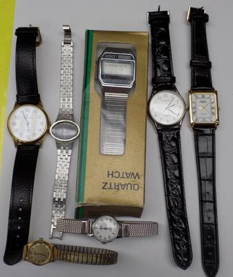 Selection of watches- some vintage incl. Saxon in box