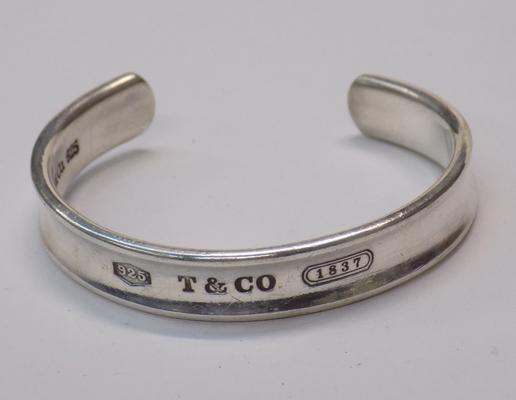 Silver Tiffany bangle-full hallmarks