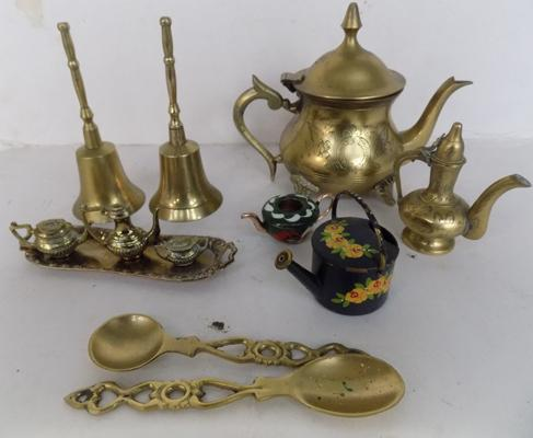 Selection of brassware