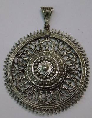 Large filigree pendant