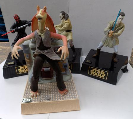 4x Star Wars figures-mechanical & sounds