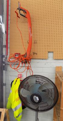 Mini strimmer and electric fan