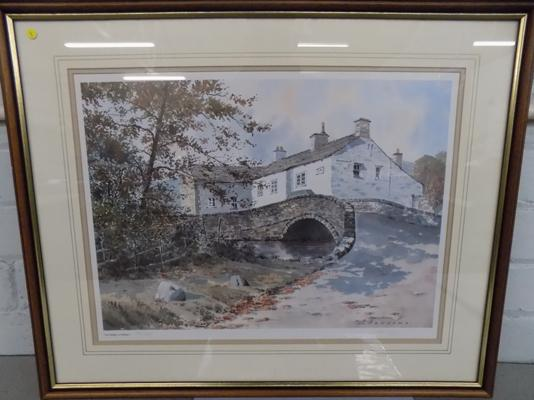 "Jack Beddows ""The Bridge at Malham"" Limited edition print 74/350 size 24"" x 17"""