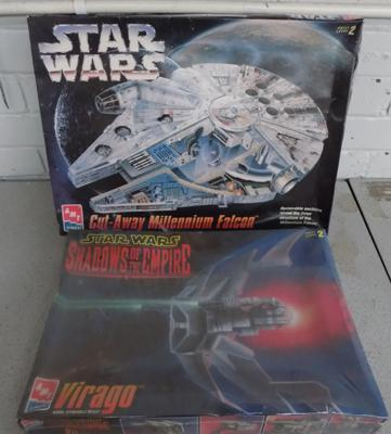 Two ERTL unused Star Wars model kits