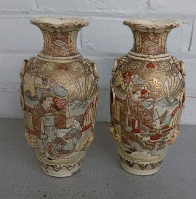 Two Japanese satsuma vases