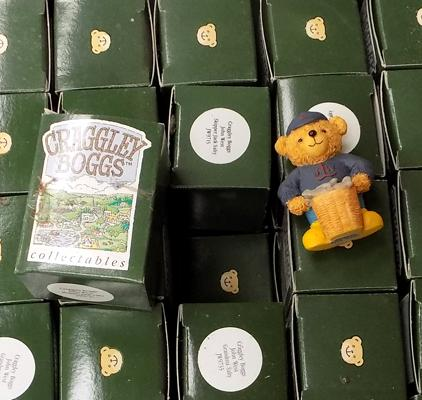 Box of Craggley Boggs collectable bears