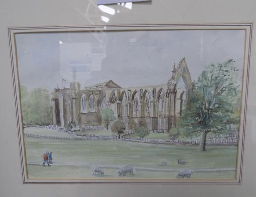 Watercolour of Bolton Priory