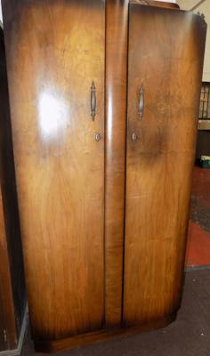 Double bow front wardrobe
