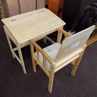Child's desk & chair