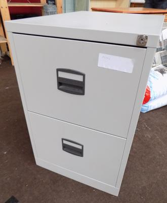 Metal 2 drawer filing cabinet (with keys)