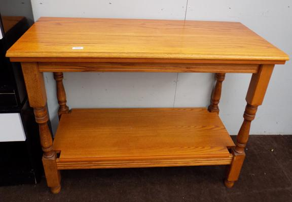 Oak hall table