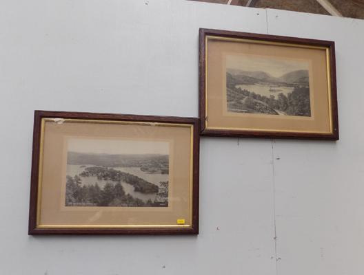 2x Vintage framed photos of Grasmere