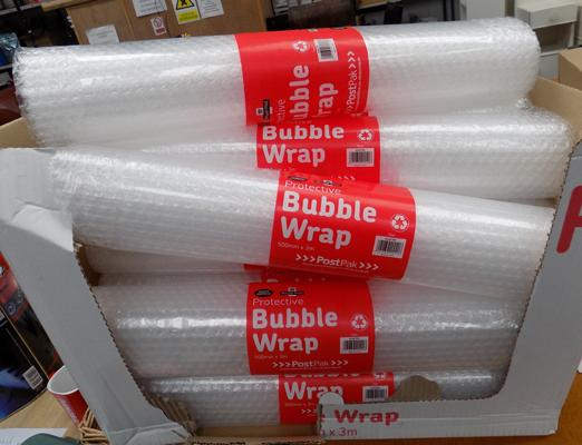 12 rolls of bubble wrap