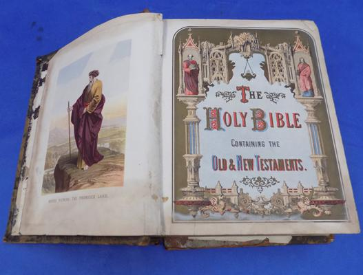 Bible - needs rebounding, contains pictures