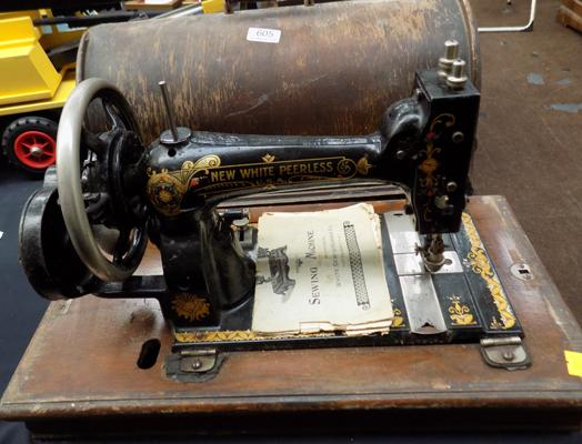 White peerless sewing machine
