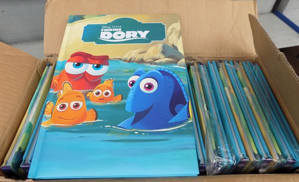 Box of new Disney Dory books
