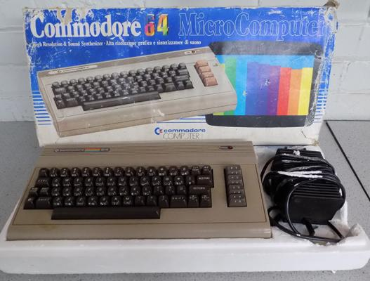 Commodore 64 computer console in box