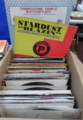 Large box of records - mainly dance, 12""