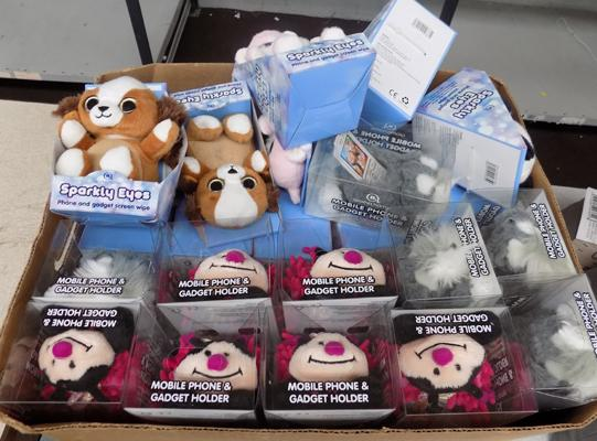 Box of phone teddys