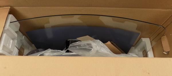 Curved glass extractor hood - new in box