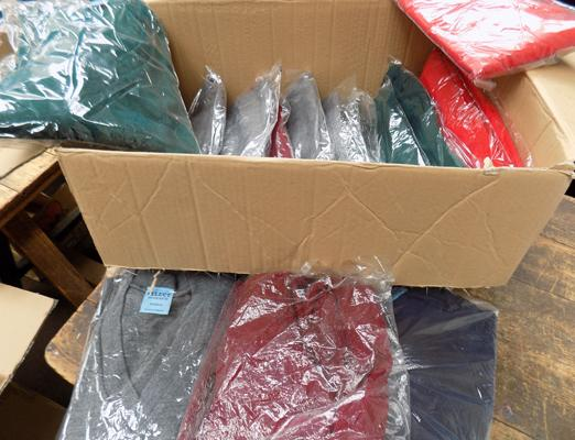 Box of 20 wool rich gents jumpers in various colours and sizes