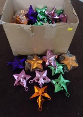 Box of balloon star weights-various colours-approx 50 items