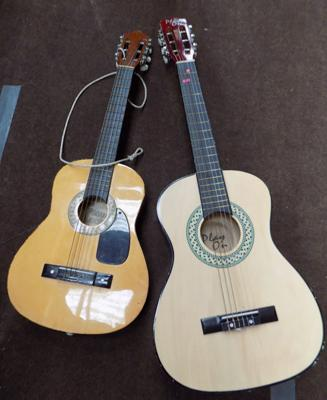 Two children's guitars