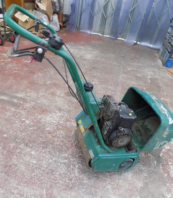 Qualcast petrol scarifier with grass box - W/O