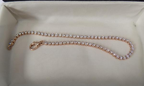 Boxed bracelet, QVC, rose gold, silver plate
