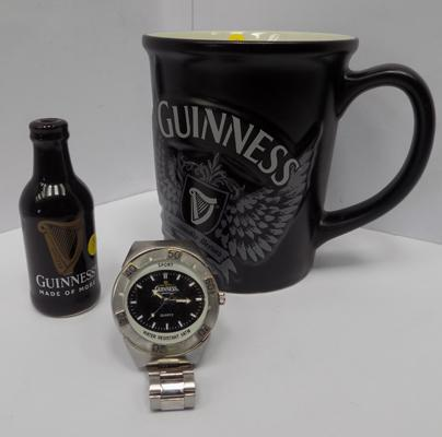 Selection of old Guinness items